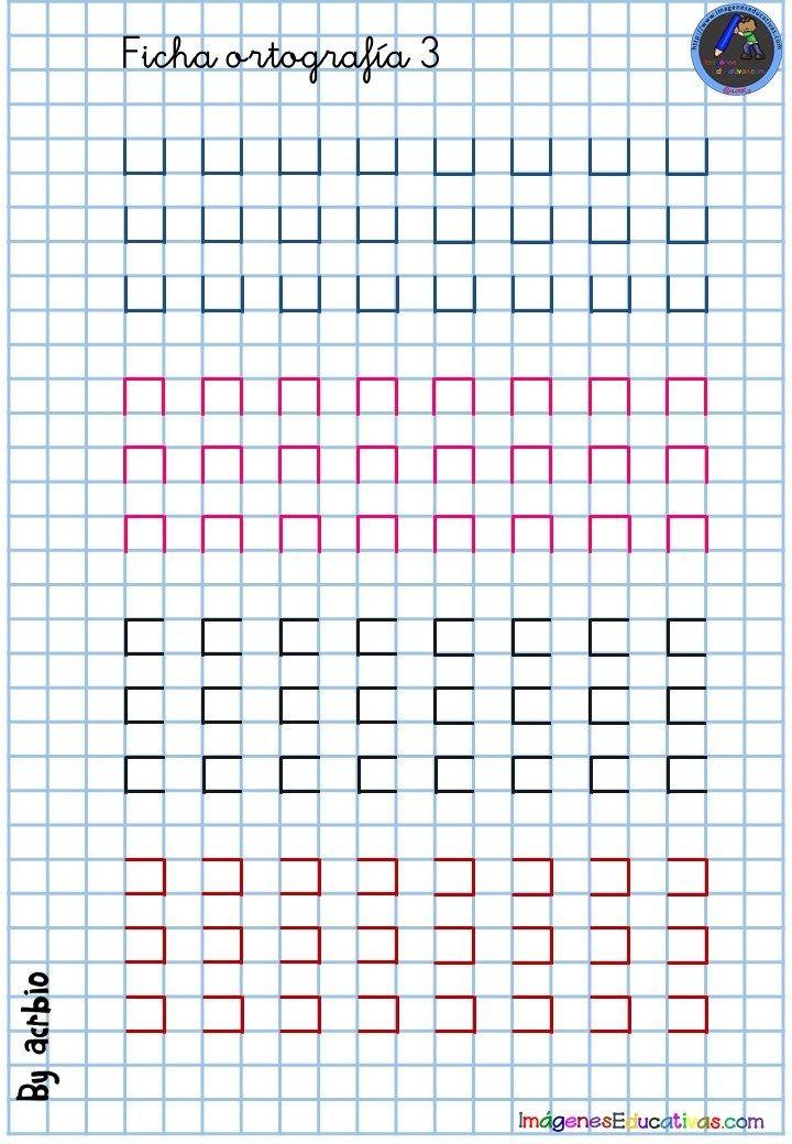 Cuaderno De Caligrafia En Cuadricula 3 Imagenes Educativas