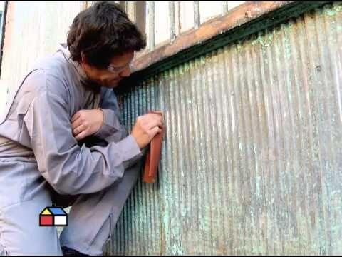 ¿Cómo pintar una fachada de zinc ondulado?