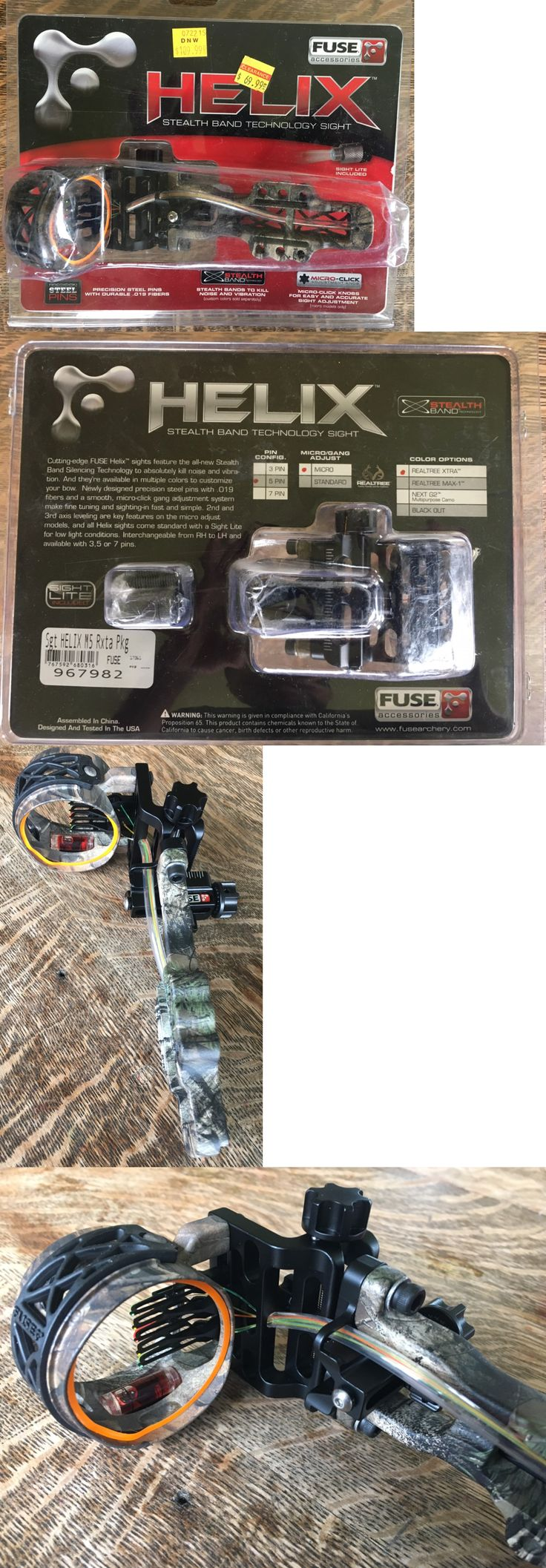 Sights 20845: Fuse Archery Helix M5 Stealth Band Sight 5 Pin Micro Adjust Realtree Xtra 967982 -> BUY IT NOW ONLY: $61.79 on eBay!