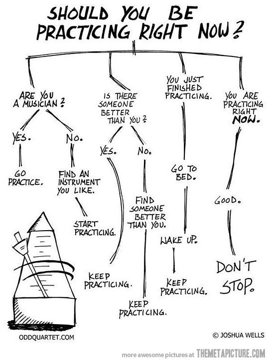 Should you be practicing? (Good for musicians and anyone else who wants to be awesome at anything.)
