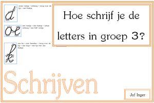 hoe schrijf je de letters in groep 3