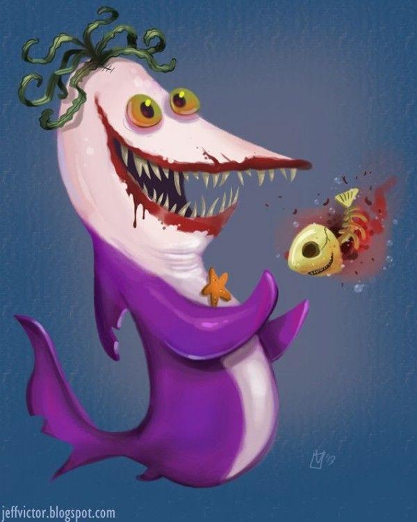 villains de batman en requins 5   Les villains de Batman en requins   villain vilain requin pingouin photo Joker Jeff Victor image cat woman...