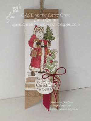handmade by Julia Quinn  -    Independent Stampin' Up! Demonstrator: Father Christmas on my favourite tag - CTC #99