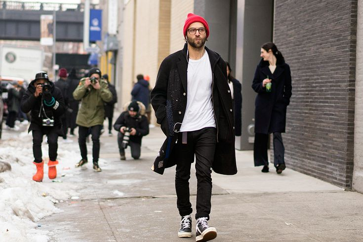 #streetstyle THE COAT   The Best Dressed Men of New York Fashion Week