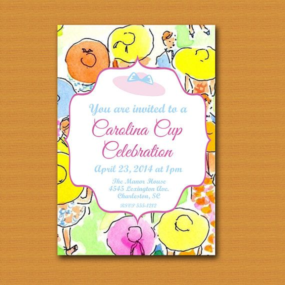 Carolina Cup Printable InviteLilly Pulitzer by DestinationInvite