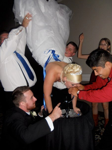 It's your wedding day, who says you can't party it up college style?