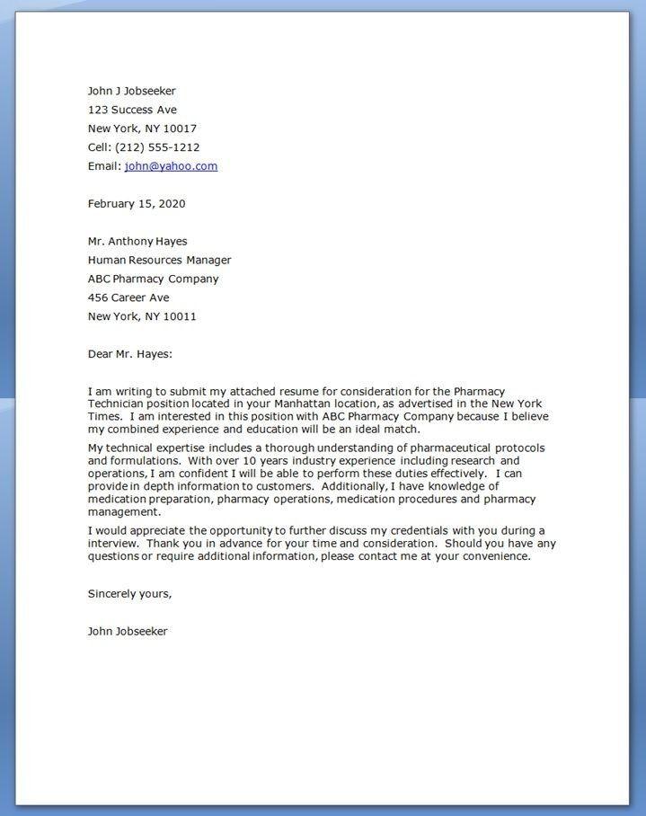 25 Pharmacy Technician Letter Ce Sample Letter Pharmacy Technician Training Letter Forma Cover Letter For Resume Pharmacy Technician Study Pharmacy Technician