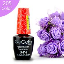 Nova Chegada 205 Cor opie Cor Gelpolish Goma Laca UV Top coat De Base Off LEVOU Polonês Gel UV Design de Moda Para Unhas de Gel Unha 15 ml alishoppbrasil