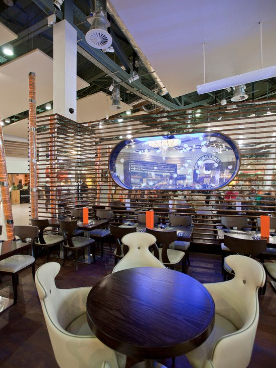 Brilliant Dining Furniture Design Of Chaobaby Birmingham Restaurant Interior With Contemporray Cream Chair And Wooden Dining Table