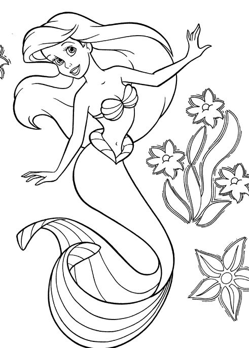 Free coloring pages of mermaid2 | L M Costuming Sea Creatures ...
