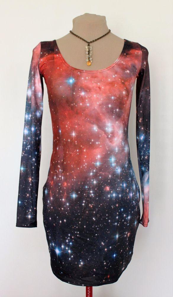 Galaxy Red long sleeved bodycon dress - Courtesy of taggau5 (Ebay Seller)
