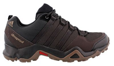 adidas outdoor Terrex AX2 CP Waterproof Hiking Shoes for Men - Night Brown/Black/Grey - 11.5 M