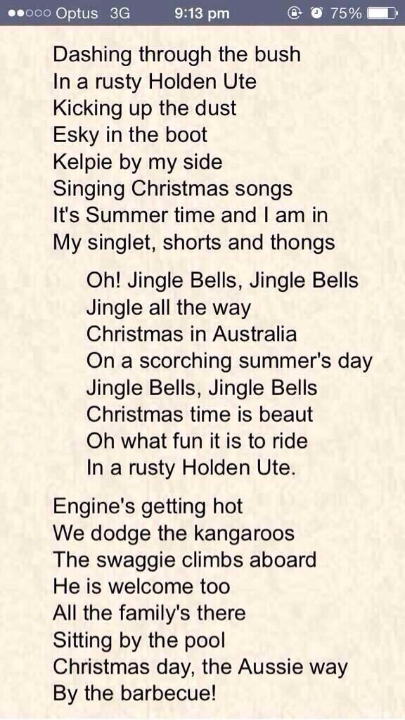 Christmas carols in Australia