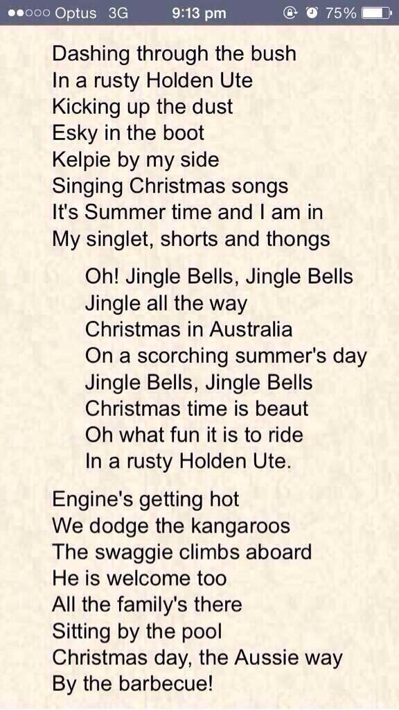 Christmas carols in Australia