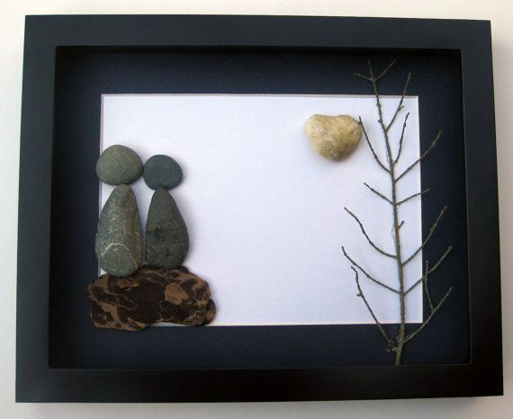 ... Art Wedding GiftWest Coast Pebble Art -One Of A KindStone Art on