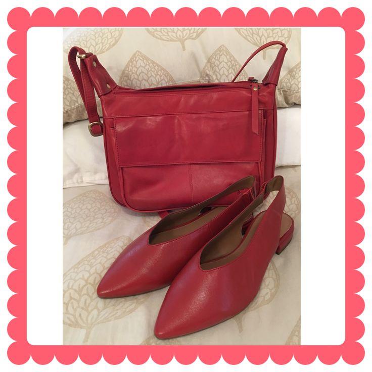 Love my Red sling backs and leather Gigi bag ❤️