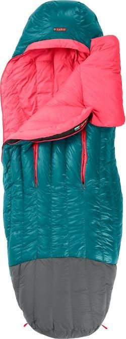 NEMO Women's Rave 15 Sleeping Bag Jade/Hot Pink Regular Right