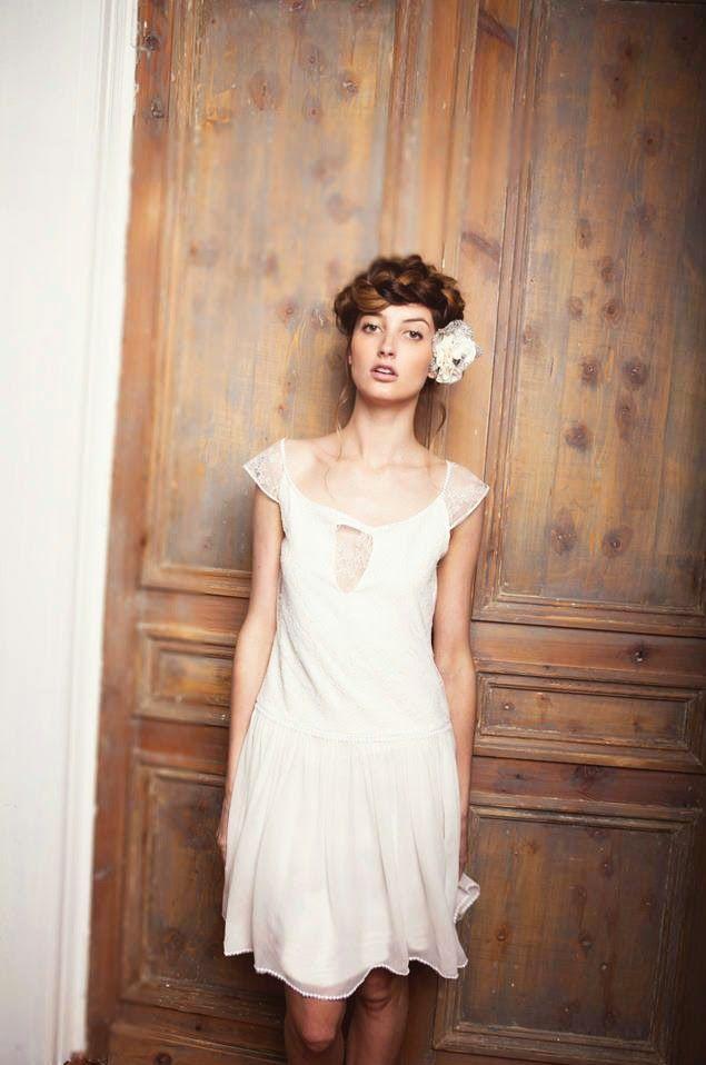 Robe romantique chic mariee