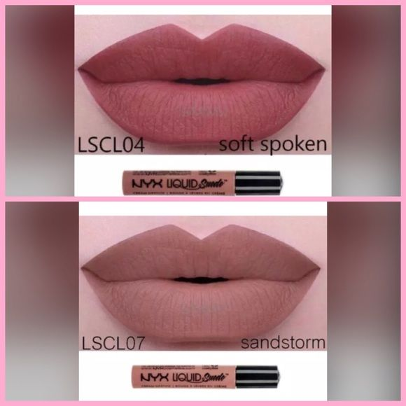 NYX BUNDLE SOFT SPOKEN & SANDSTORM Brand new sealed tubes of NYX Liquid Suede Lipstick that goes on matte and lasts for hours! Bundle of Soft Spoken and Sandstorm. HTF in stock! No PayPal. No Trades. No low ball offers. NYX Makeup Lipstick