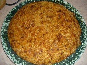 Froga tat-tarja - vermicelli omlette    We just call it Tarja - pronounced 'taria'
