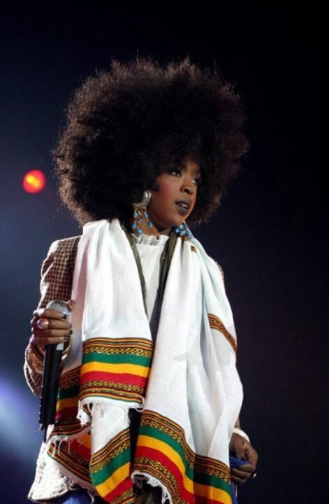 Lauryn Hill w/Ethiopian Cloth