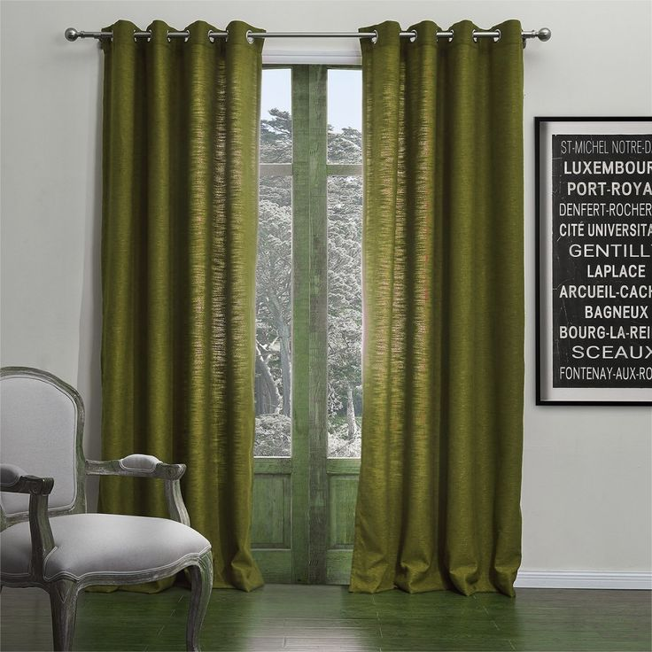 Modern Solid Green Curtain   #curtains #decor #homedecor #homeinterior #green