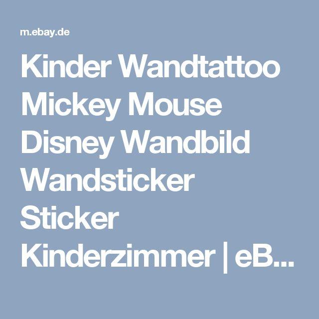 Fabulous Details zu Kinder Wandtattoo Mickey Mouse Disney Wandbild Wandsticker Sticker Kinderzimmer