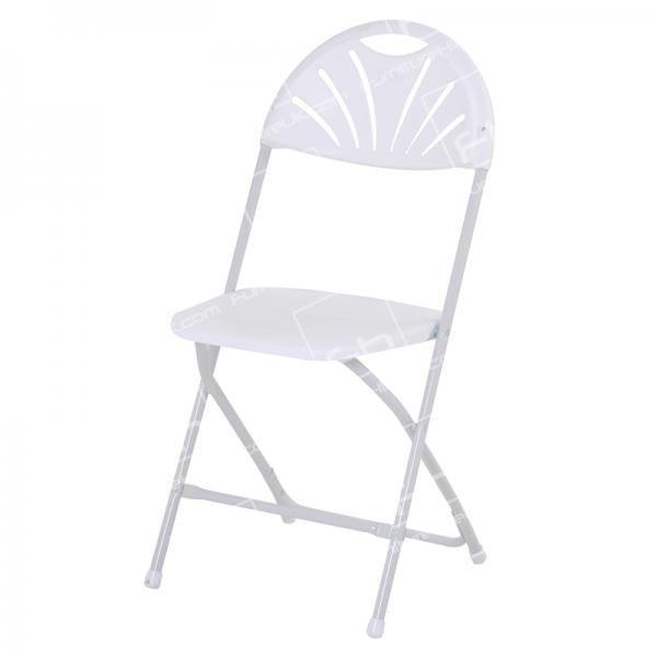 White Folding Fan Back Chair Hire