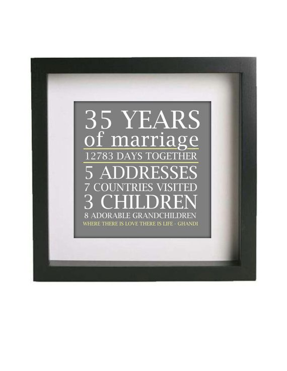 Anniversary Gift  Wall Art Frame & Matted  by EnticingElements, $15.00