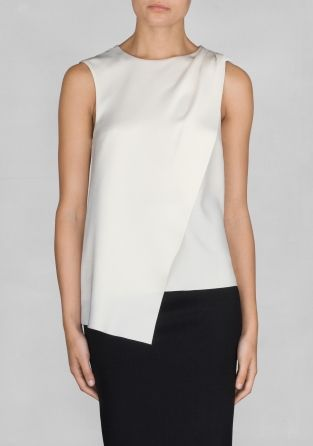 Via And Other Stories | White Asymmetric Top | Minimal Chic