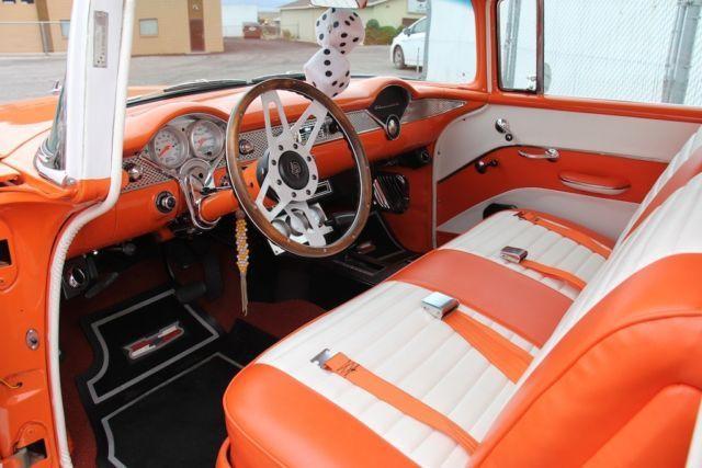 1955 Chevrolet Bel Air 150 210 Orange And White Orange And White Chevrolet Bel Air 1955 Chevrolet Chevrolet