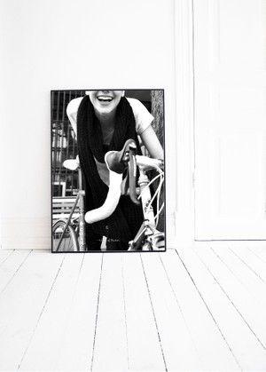 GIRL ON FIXIE photo print by Pernilla Algede. Buy at houseofbeatniks.com