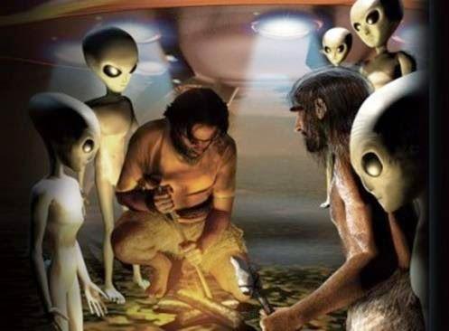 OVNISONTEM: Pintura de 10.000 anos em Rocha na Índia retrata '...