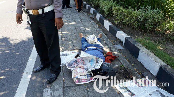 BREAKING NEWS: Kecelakaan Tunggal Terjadi di Depan Polsek Wonokromo, Pengemudi Tewas