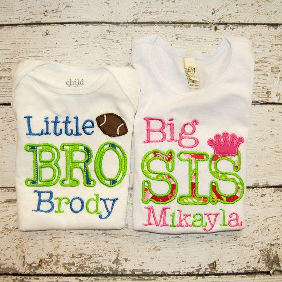 Sibling Shirt/Bodysuit Shirt Big Bro, Lil Sis, Big Sis, Lil Bro on Etsy, $28.00