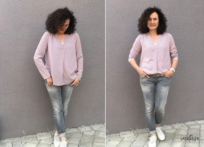 6c10a9590efc Heute zeige ich euch die Bluse Lilly von Schnittmuster Berlin. Ein sehr  schöner Schnitt mit