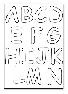 Letters To Print And Cut Out | 6a. Cut Out Letters - Downloads