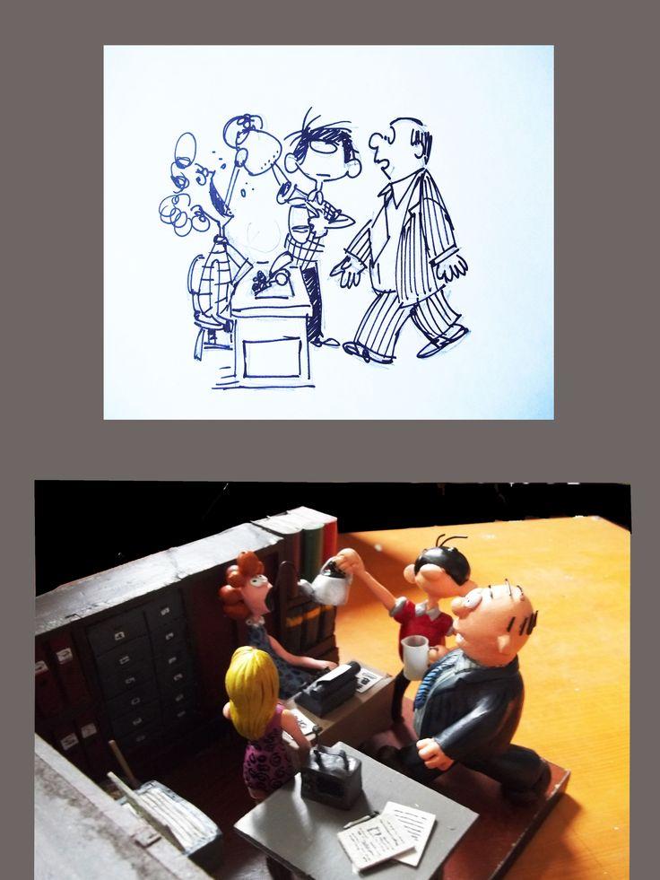 """Personaje """"Artemio"""" del comics chileno (maqueta)"""