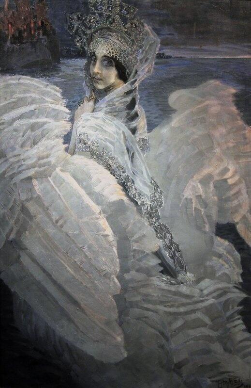 """ロシアの絵画・美術 on Twitter: """"Михаил Врубель «Царевна-Лебедь» ミハイル・ヴルーベリ『白鳥の王女』(1900)"""
