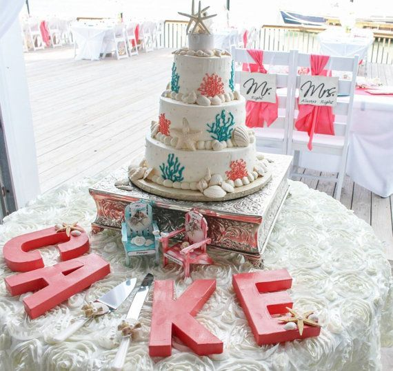 Small Cake Topper - Starfish Cake Topper - Adirondack Chair Picture to Match