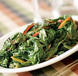 Need a side dish for tonight? Try this Sauteed Swiss Chard with Slivered Almonds