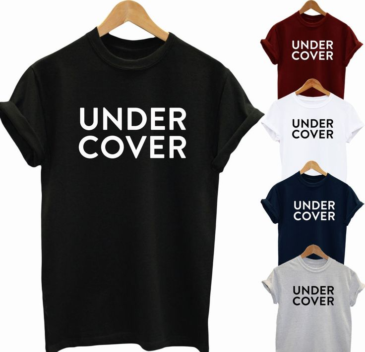 Undercover T Shirt Funny Ladies Mens Top Slogan Cool Fashion Idea Dope Gift   eBay