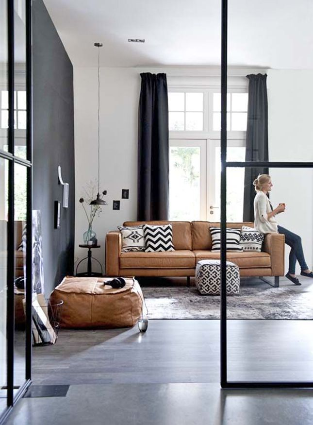 17 melhores ideias sobre decora o com sof marrom no for Camel leather sofa decorating ideas