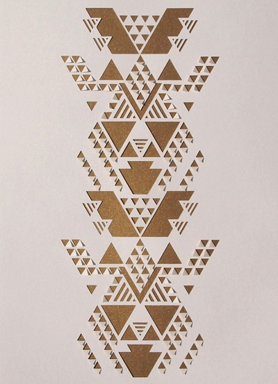 tribal print by sarah louise matthews