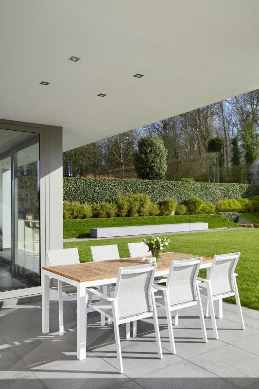 Green Garden Tuinset.Meba Tuinset Wit Tafelblad Teak Met 6 Tuinstoelen Overstock