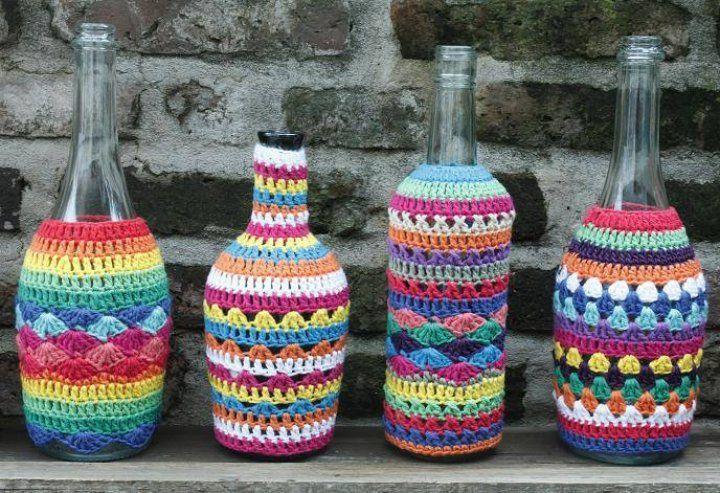 Encontrá Botellas tejidas desde $135. Decoración, Arte y más objetos únicos recuperados en MercadoLimbo.com.