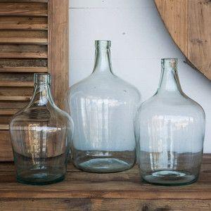 HUGE Recycled Glass Cellar Bottles