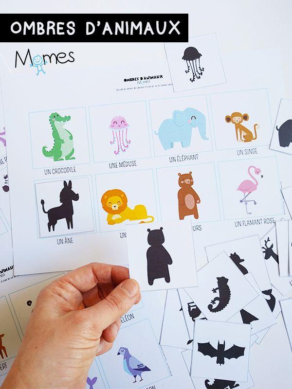Un petit jeu de reconnaissance visuel avec des animaux rigolos sous forme de cartes. Il faut retrouver l'ombre de chaque animal. Idéal pour les plus petits.