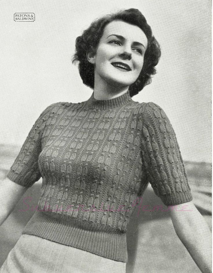 The Vintage Pattern Files: Free 19450's Knitting Pattern - Pagliacci Jumper
