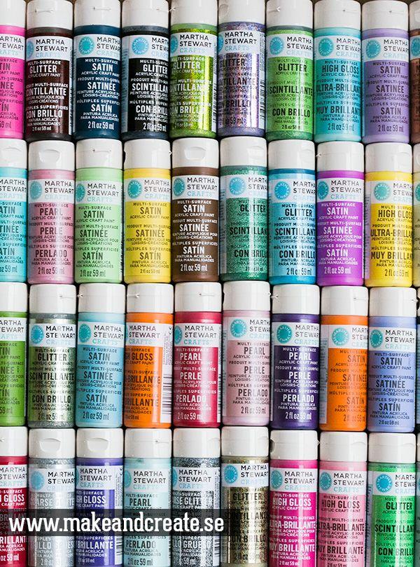Nu finns Martha Stewart Crafts färger, stenciler & målarverktyg hos Make & Create.